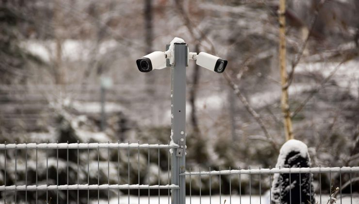 Security Camera in Winter