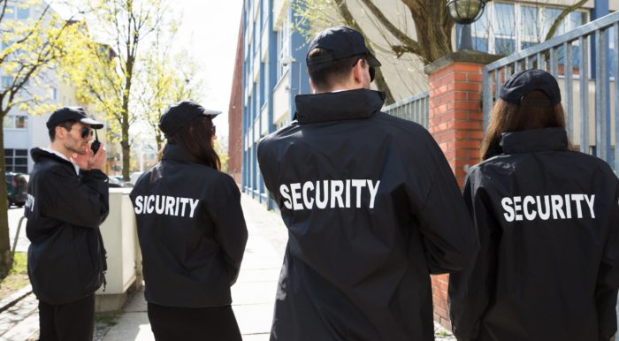 Security Officers on street