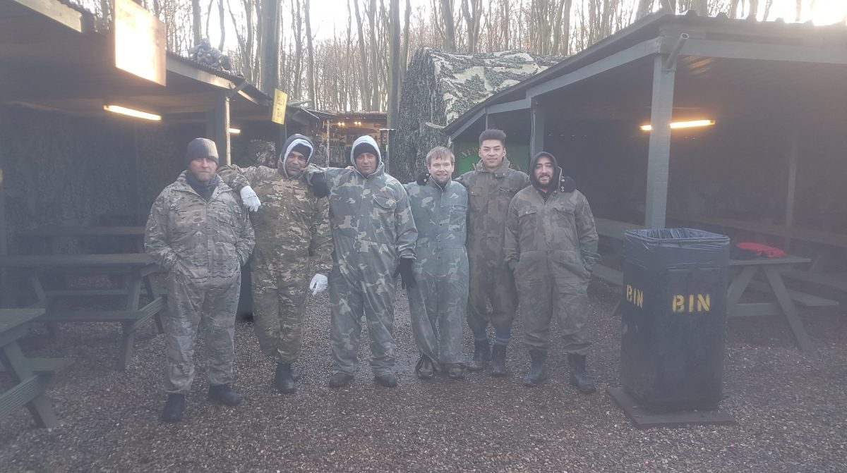 Abbey security Officers paintball teambuilding